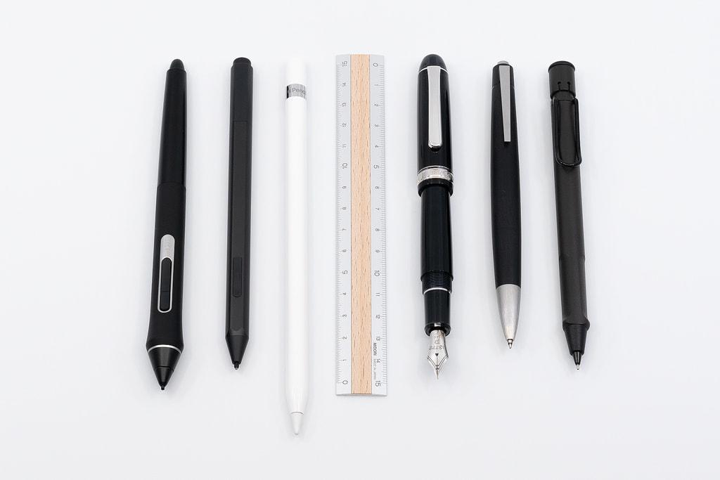 Apple Pencil(第1世代)他のペンとの長さ比較