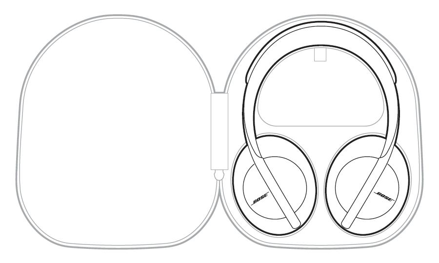 「BOSE Noise Cancelling Headphones 700」のケース収納図