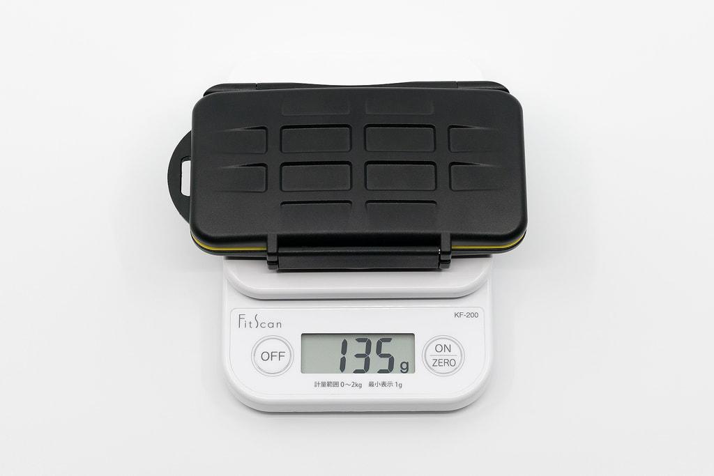 Deyard 防水SDメモリーカードケースの重量