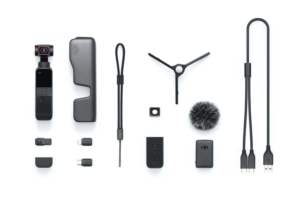 「DJI Pocket 2 Creatorコンボ」の同梱物