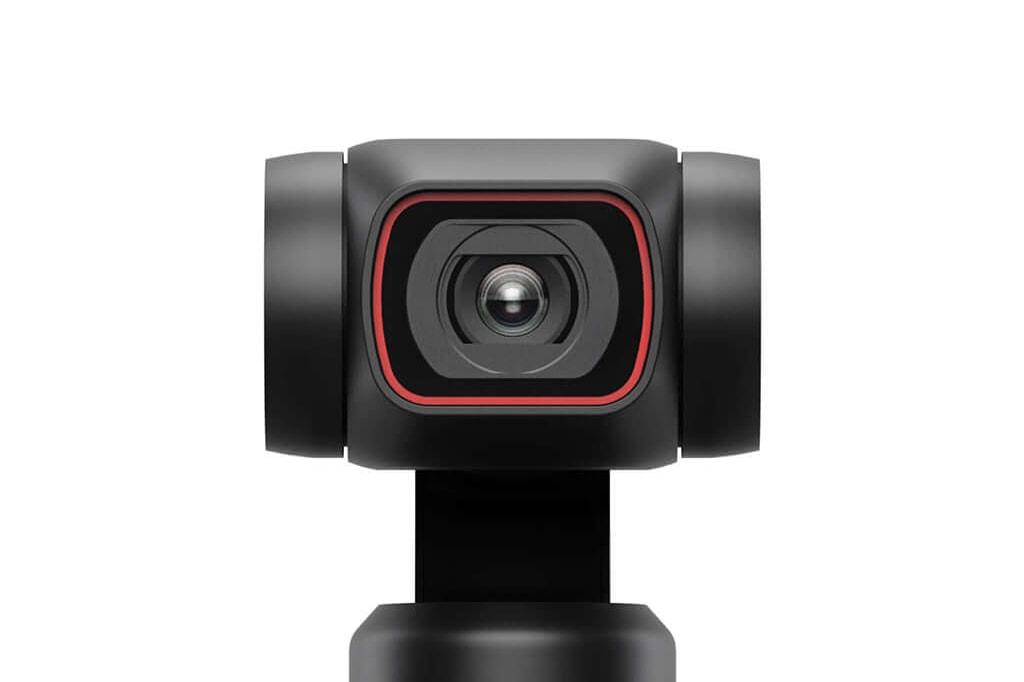 「DJI Pocket 2」レンズ周りの赤い枠