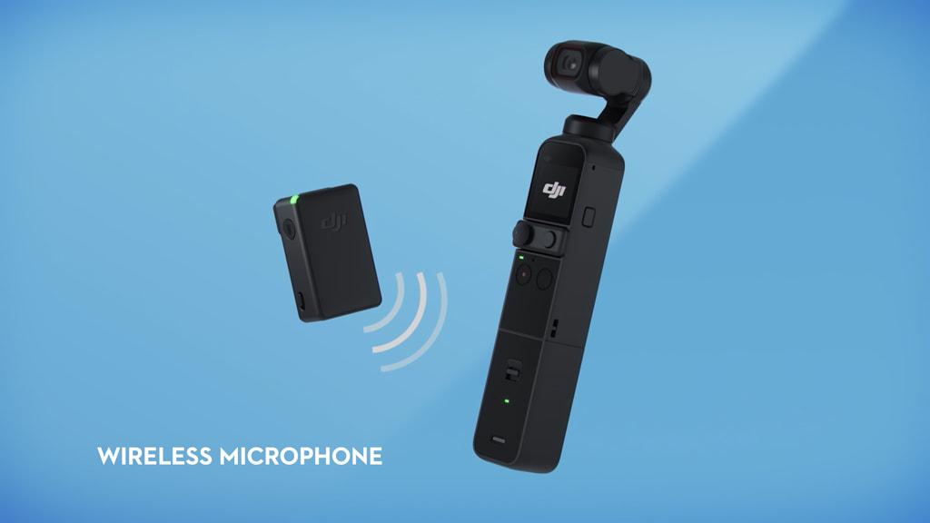 「DJI Pocket 2」のワイヤレスマイク接続イメージ