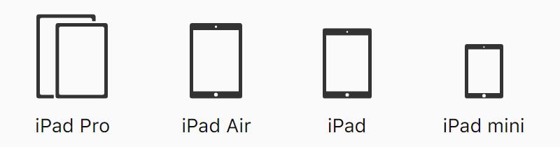 「iPad」のラインナップ