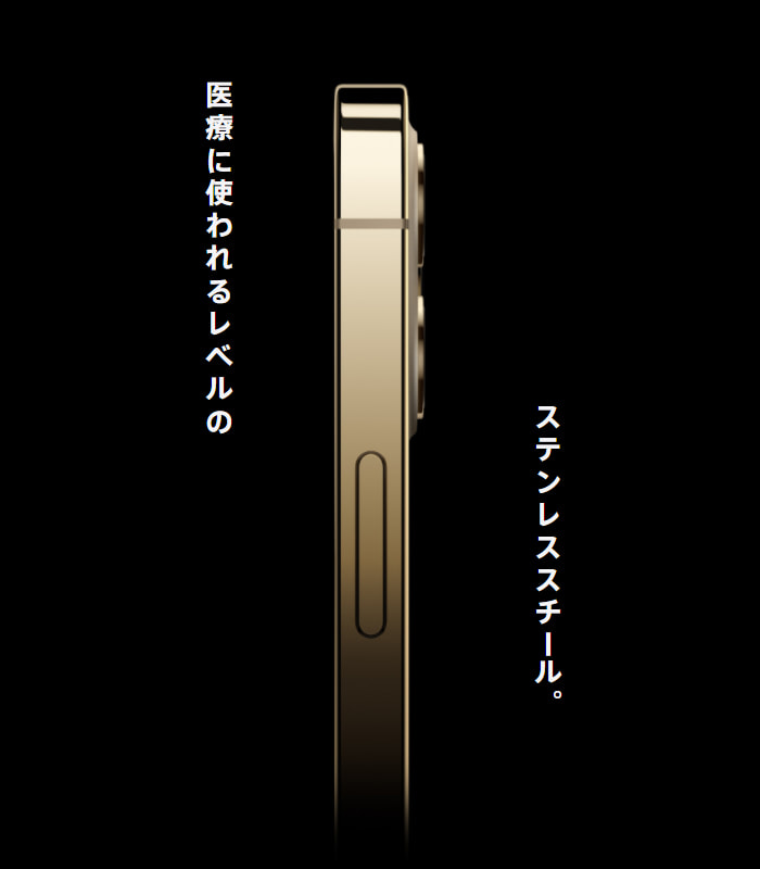 iPhone 12 Pro と 12 Pro Max のステンレススチール